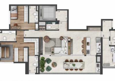 PGR_APARTAMENTO DE 142 m² — 2 SUÍTES