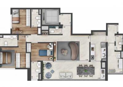 PGR_APARTAMENTO DE 142 m² — 3 SUÍTES