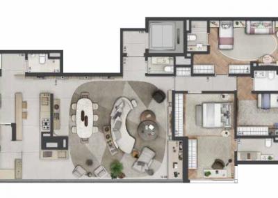 PGR_APARTAMENTO DE 186 m² — 3 SUÍTES