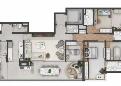 PGR_APARTAMENTO DE 186 m² — 4 DORMS